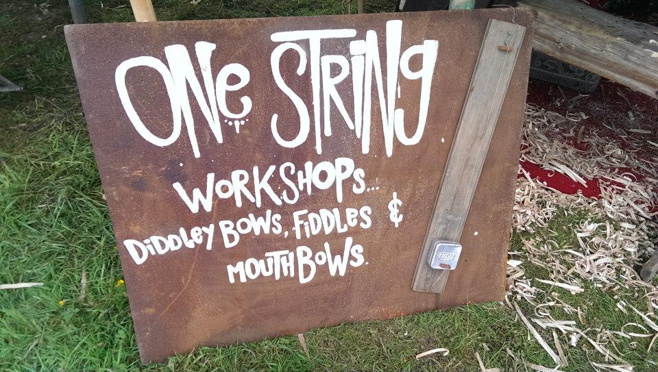 one string workshops sign