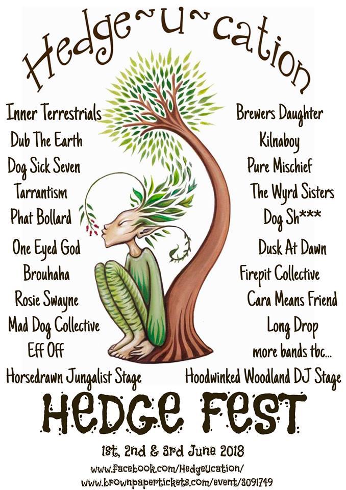 Hedge Fest poster - line-up