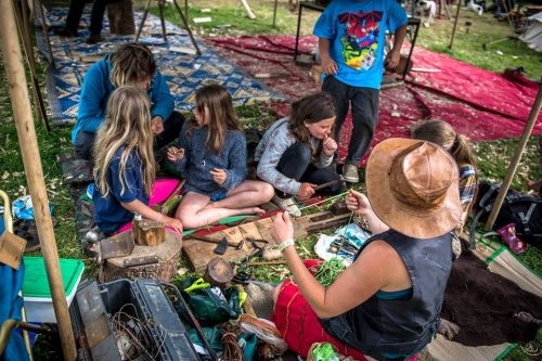 Children taking part in craft workshop