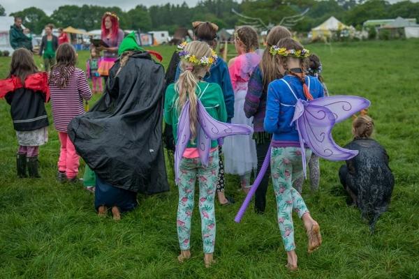 Children wearing fairy wings © 2017 Jean Cullen
