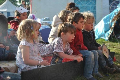 Children watching show
