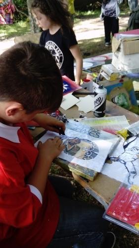Graffiti art and stencil workshop