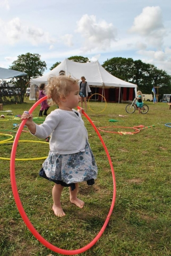 Little child with hoop