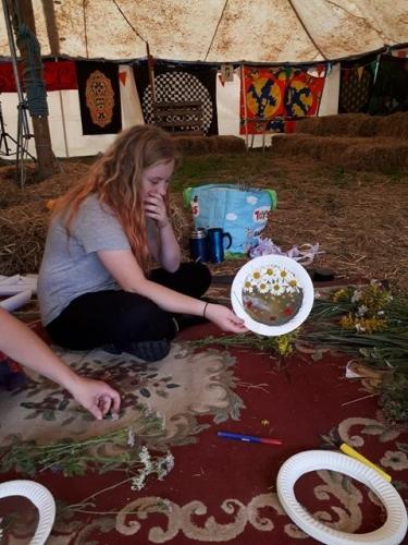 Kids craft - paper plate