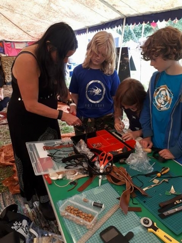 Leather work with Hedge Youth